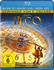 3D Blu-ray * HUGO CABRET (2D + 3 D BLU-RAY + DVD + DIGITAL COPY) # NEU OVP +