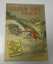 1956 8/56 CLEAR THE TRACK Give-Away PROMO Railroads NM- 16 p. Unread  Bill Bunce