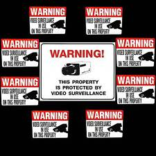 LOT HOME SECURITY VIDEO CAMERAS IN USE BURGLAR ALARM WARNING YARD SIGN+STICKERS