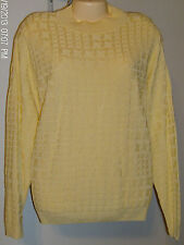 Alfred Dunner Sweater Size Large  New with Tags Soft Yellow Color  USA Washable