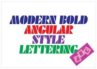 Modern Font Letter Stencil Tiles or Sheet 3 Sizes 350 Micron Mylar FONT003