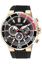 CITIZEN CA4252-08E Eco-Drive Chronograph Date Gold Black Rubber 200m Men's Watch