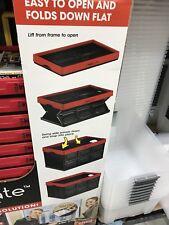InstaCrate 12 Gallon Instant Folding Storage Greenmade USA Folds Flat Bin - Red