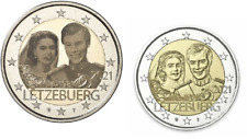 2 x 2 Euros Commémorative Luxembourg 2021 Mariage : 2 Versions