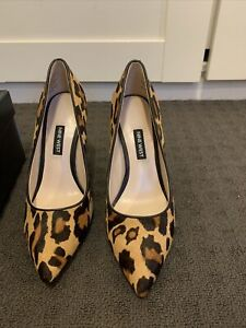Nine West Tatiana Size 6.5 Leopard Stiletto Shoes