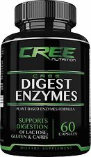 CREE Nutrition Digest Enzymes Supplement for Lactose, Gluten & Carbs Digestion