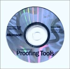 Microsoft Office Proofing Tools Version 2002 CD-ROM w/ product key NEW!