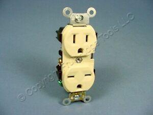 Leviton Ivory INDUSTRIAL 125/250V DUAL Voltage Receptacle Outlet 15A Bulk 5292-I