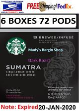 Starbucks Verismo Sumatra Dark Roast Coffee 72 Pods EXP 20-JAN-2020
