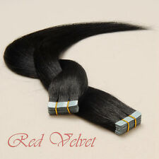 100% Remy Human Hair Seamless Tape in Hair Extensions #1(Jet Black)