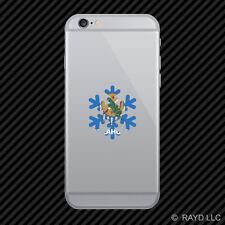 Oklahoma Snowflake Cell Phone Sticker Mobile OK snow flake snowboard skiing skii