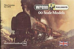catalogo WRENN 1978 RAILWAYS OO Scale Models 3rd ed. + New Liveries + Prix £  bb
