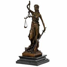 Bronzeskulptur Justitia Justizia Statue Bronze Figur Skulptur Antik-Stil - 35cm