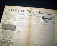 Rare & Early SANTE FE NM New Mexico Territory 1898 Old West Original Newspaper