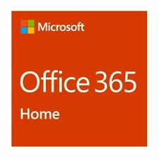 Microsoft Office 365 Home * 1 Year Subscription * 6 Users * PC & Mac * License