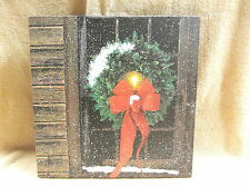 Christmas Window Lighted Canvas Wall Decor Sign Front Door Holiday
