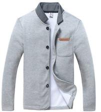 New Mens Casual Jacket Slim Collar Coat Overcoat Man Autumn/Winter Warm Outwear