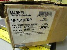 New Markel Fan Forced Wall Heater HF4310TRP 240/208v 1000/750 Watt