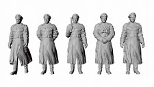 1/72 Scale WWII German Army 5 Field Marshal Standing Set
