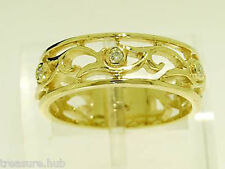Diamond Band Yellow Gold 18k Fine Rings