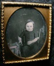 Daguerreotype Handsome Little Guy 1/6 Plate Crisp & Clear Image
