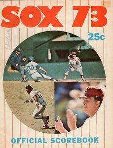 DAVE LEMONDS SIGNED 1973 Chicago White Sox vs Kansas City Royals Scorebook