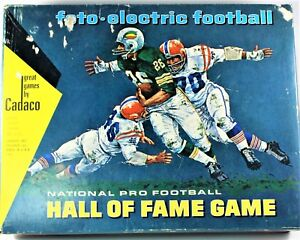 Cadaco Foto Electric Football Hall Of Fame Game National Pro 1965 Complete Works