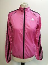 BB405 WOMENS ADIDAS RESPONSE PINK LIGHT WEIGHT RUNNING TRACKSUIT JACKET UK 12