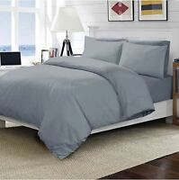 Luxury Grey Flat Sheet 400TC Egyptian Cotton Single, Double, King, Super King