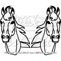 PFERDEKOPF Aufkleber Reiter Pferd Pony Vinyl 2 Stück