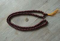 Mala Gebetskette extra lang 120cm - 108 Perlen Tibet Nepal OM Buddha Kette