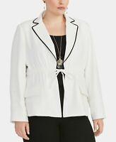 Rachel Rachel Roy Women's Jacket White Ivory Size 1X Plus Alessandra $149 #014
