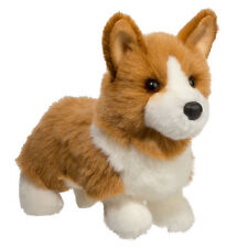 "New DOUGLAS CUDDLE TOY Stuffed Plush CORGI Dog Puppy CREAM TAN BROWN 10"" Soft"