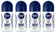 4x Nivea Sensitive Protect Anti-perspirant Deodorant Roll On for Men 4x 50ml