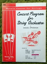 Concert Program for String Orchestra - Samuel Applebaum: Belwyn Course - Score