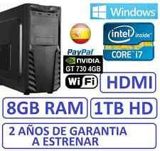 Ordenador Sobremesa i7 8GB RAM 1TB, NVIDIA GFORCE GT730 4GB, WIFI ,WINDOWS,