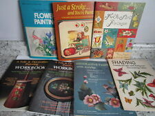 Lot of 7 Tole Painting Books - Paperbacks