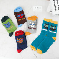 Funny Comfortable Casual Cotton Socks Socks Cat Printing Men's Socks