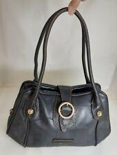 Anne Klein Black  Leather Satchel Shoulder Bag