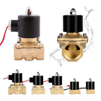 Electric Solenoid Valve Air Water Gas Oil Brass Normally Closed 12V 24V 240V BSP