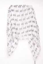 Adorable tres chic owl graphic full  pattern print & white neck scarf (S28)