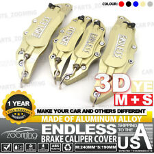 Metal 3D ENDLESS Universal Style Brake Caliper Cover front & rear 4pcs Gold LW04