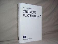 Technique contractuelle par Mousseron négociation du contrat éditions juridiques