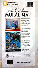 National Geographic World Classic Mural Map