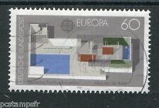 ALLEMAGNE FEDERALE, 1987, timbre 1153, EUROPA, ARCHITECTURE, oblitéré