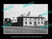 OLD POSTCARD SIZE PHOTO OF COOLGARDIE WESTERN AUSTRALIA THE POST OFFICE c1950