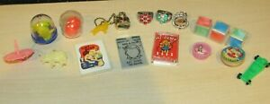 Vintage Lot of 17 Cracker Jack Gumball Machine Charm Prize  Mixed Plastic Toys