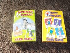 New listing2 Children'S Card Games Happy Families & Farmyard Donkey In Vgc