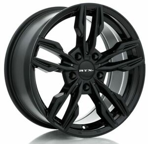 One (1) 17x8 RTX OE Stade ET 35 Black 5x112 Wheel Rim