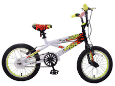 "Kent One Six Graffiti 16"" Wheel BMX Boys Kids Bike Black/White Bicycle Age 5+"